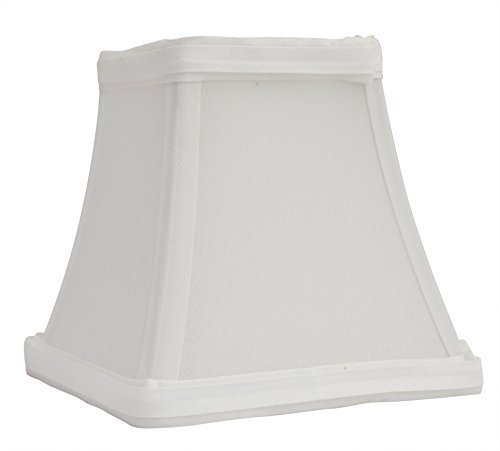 Urbanest Square 5-inch Softback Bell Chandelier Lamp Shade, Off White, Faux Silk