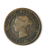 1876 H 1c Canada Large One Cent Penny KM#7  Bronze  - $9.89