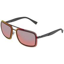 NEW VERSACE Rectangle Sunglasses VE2183 12616Q Matte Black/ Red Flash Mi... - $189.87