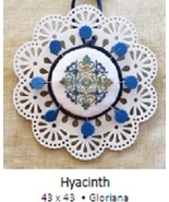 Hyacinth Laser Lace Ornament cross stitch chart Keslyn's - $8.00