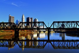 Columbus, Ohio Skyline Wall Decor Canvas or Metal Print - $40.00+