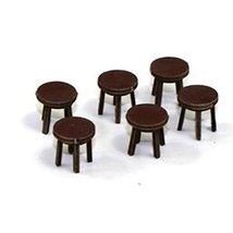 28mm Furniture: Medium Wood Stool (A)