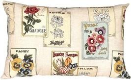 Pillow Decor - Vintage Seed Packet 16x24 Throw Pillow  - SKU: VB1-0021-0... - $49.95