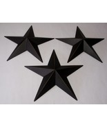"""Hearthside Collection 12"""" Black Metal Accent Stars Set of 3 NEW Primitive  - $13.64"""