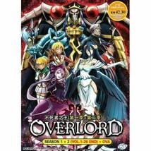 Overlord Season 1+2 Episode 1-26+OVA End English Version ship from USA