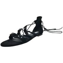 Steve Madden Women's Carleigh Ghillie Gladiator Sandal, Black , Size 8 M MSRP... - $43.55