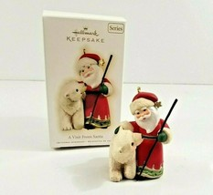 Hallmark Keepsake Ornament A Visit From Santa Polar Bear 1st in Series 2009 - $9.95