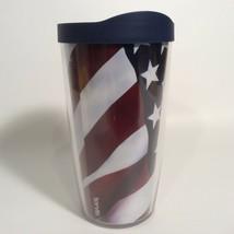 Tervis America USA Flag 16 oz. Plastic Tumbler Red White and Blue Travel... - $14.62