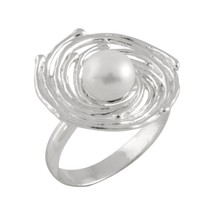 Bella Pearls Women 925 Sterling Silver Ring - Size L SLI-R1 - $186.52