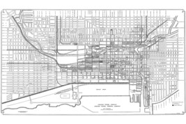 Map of the Chicago Tunnel Company and Chicago Tunnel Terminal Company - $26.72+