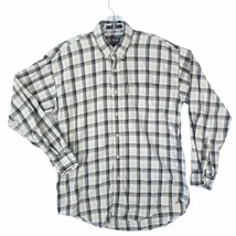 VTG CHAPS RALPH LAUREN Mens Medium Blue Tan Plaid Long Sleeve Button Up ... - $22.23