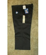 "DICKIES Girls Jr Black Uniform Capri Sz 21 Boot Cut Waist 41"" x Inseam 22""  - $14.80"