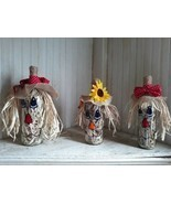 Fall Scarecrow Wine Bottles Set Of Three - $39.60