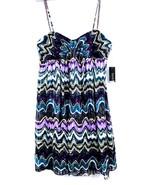 Laundry by Shelli Segal $245 Iris Multi Colored Sun Dress 6 NWT Purple  ... - $71.10