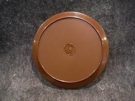"Tupperware 1207 Brown Replacement Seal N Serve Lid/ Plate 7"" Round - $4.49"