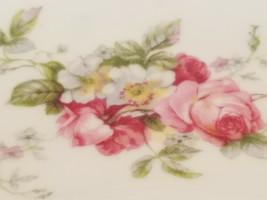 Vintage Rose Floral w/ Golden Edge Surround Trinket Dish - $9.85
