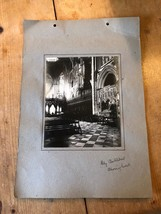 ANTIQUE/VINTAGE PHOTO OF CHOIR WEST AT ELY CATHEDRAL (ENGLAND) A4-SIZED - $6.36
