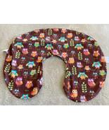 Boppy Brown Teal Orange Purple Pink Green Owls Leaves Nursing Pillow Cover - $12.13