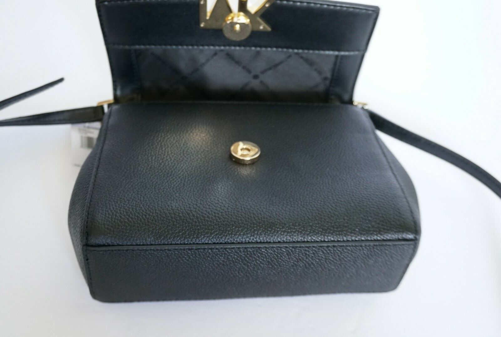 NWT MICHAEL KORS MONTGOMERY SMALL LEATHER CROSSBODY BAG BLACK image 6