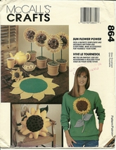 McCall's Sewing Pattern 864 P443 6836 Sun Flower Power New - $6.99