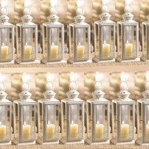 "15 Lot Starry Cutout Lantern 8"" Small White Candle Holder Wedding Center... - $130.68"