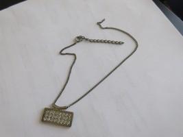 "Pendant , Rectangular , Rhinestone , 1 1/4"" X 1/2"" , Vintage - $20.00"