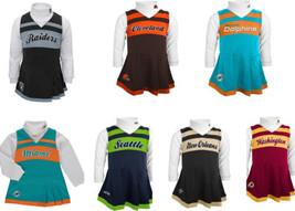 NFL Girl's 4-6x Cheerleader Dress 2-Piece Jumper Turtleneck Cheer Outfit #2 NEW