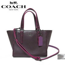 $350 COACH F20894 CROSBY HANDBAG NATURAL REFINED LEATHER PYTHON EMBOSSED... - $159.95
