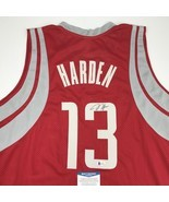 Autographed/Signed JAMES HARDEN Houston Red Basketball Jersey Beckett BA... - $299.99