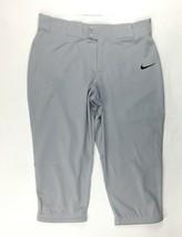 Nike Performance Softball Training Pant Rear Pockets Women's Medium Grey AV6718 - $20.78