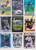 Texas Rangers Signed Autographed Lot of (9) Baseball Cards - $14.99
