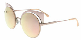 FENDI EYESHINE FF0177S Z5D Pink/Pink Gold Mirrored Sunglasses Round Runway  - $199.00