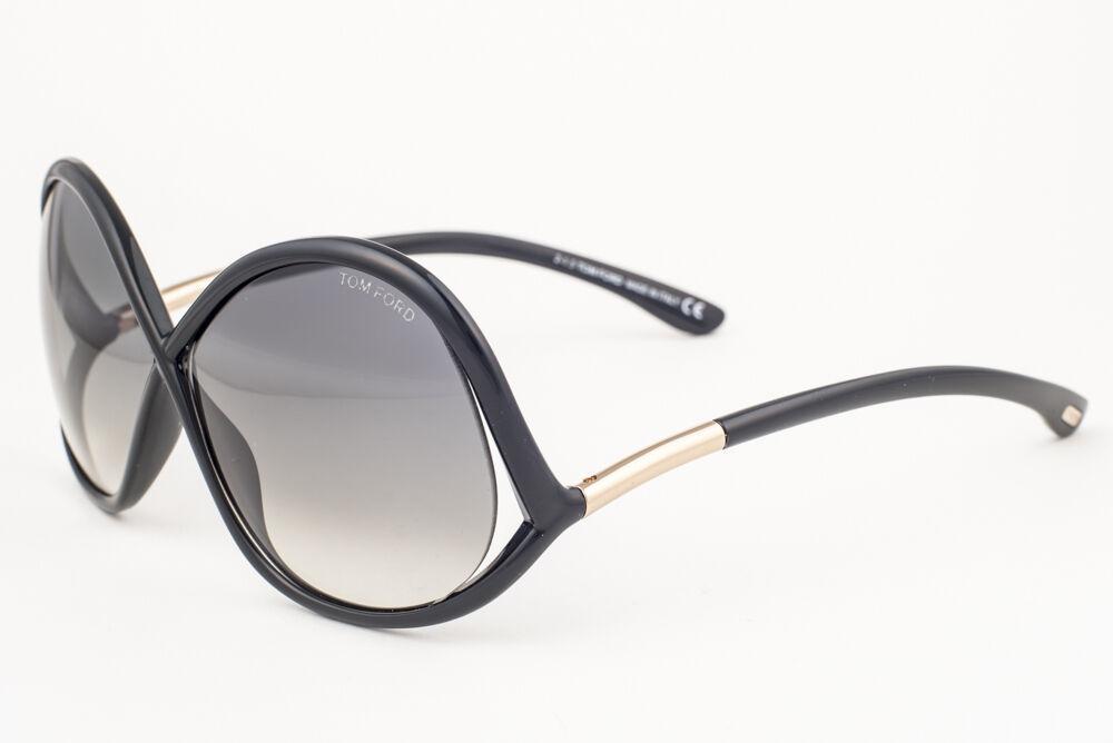 Tom Ford Ivanna Black / Gray Gradient Sunglasses TF372 01B