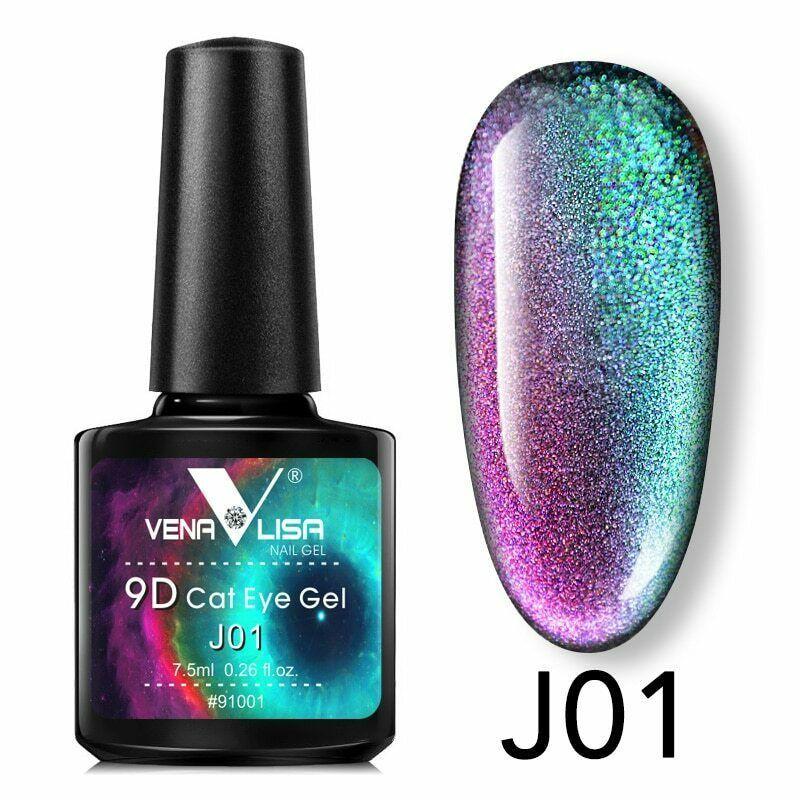New Nail Art Design Manicure Venalisa 7.5Ml Soak Off Enamel 9d cat eyes - $10.36 - $17.29