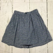 Gap Womens Skirt Button Fly A-Line Floral Blue Pocket Lined Belt Loops Size 2 - $14.80