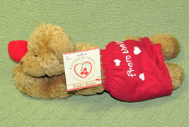 BUNNIES BY THE BAY BOBBY BOXER PUPPY WITH TAGS RED SHORTS HALLMARK PLUSH... - $9.90