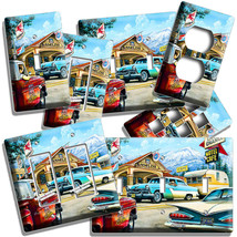 RETRO CARS TOW TRUCK ROUTE 66 CAFE LIGHT SWITCH OUTLET WALL PLATES GARAG... - $8.99+
