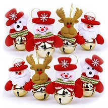 OWILER Christmas Bells Decorations for Home, 8 Pcs set Christmas (Set of 8) - $19.65