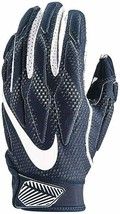 Nike Superbad 4.5 Football Receiver Gloves Blue White Adult Men's Medium NEW - $38.61