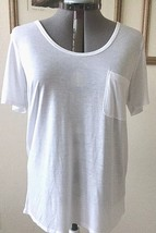 Faded Glory Womens T.Shirt 16-18 White Scoop Neck Short Sleeves New - $6.44