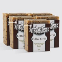 Ranch Handmade Herbal 100% Raw Goat Milk Coffee Scrub Soap (5 Pack - (5 ... - $37.27