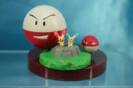 Tomy Pokemon AG Zukan P6 1/40 Scale Real Figure Plusle Minun Voltorb Ele... - $99.99