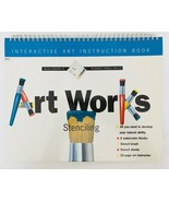 Art Works Stenciling Kit Art Instruction Stencil Sheets Kids Project Book - $8.79