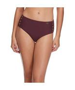 Body Glove Smoothies Retro High Rise Strappy Bikini Bottom Swimsuit, Por... - $22.17