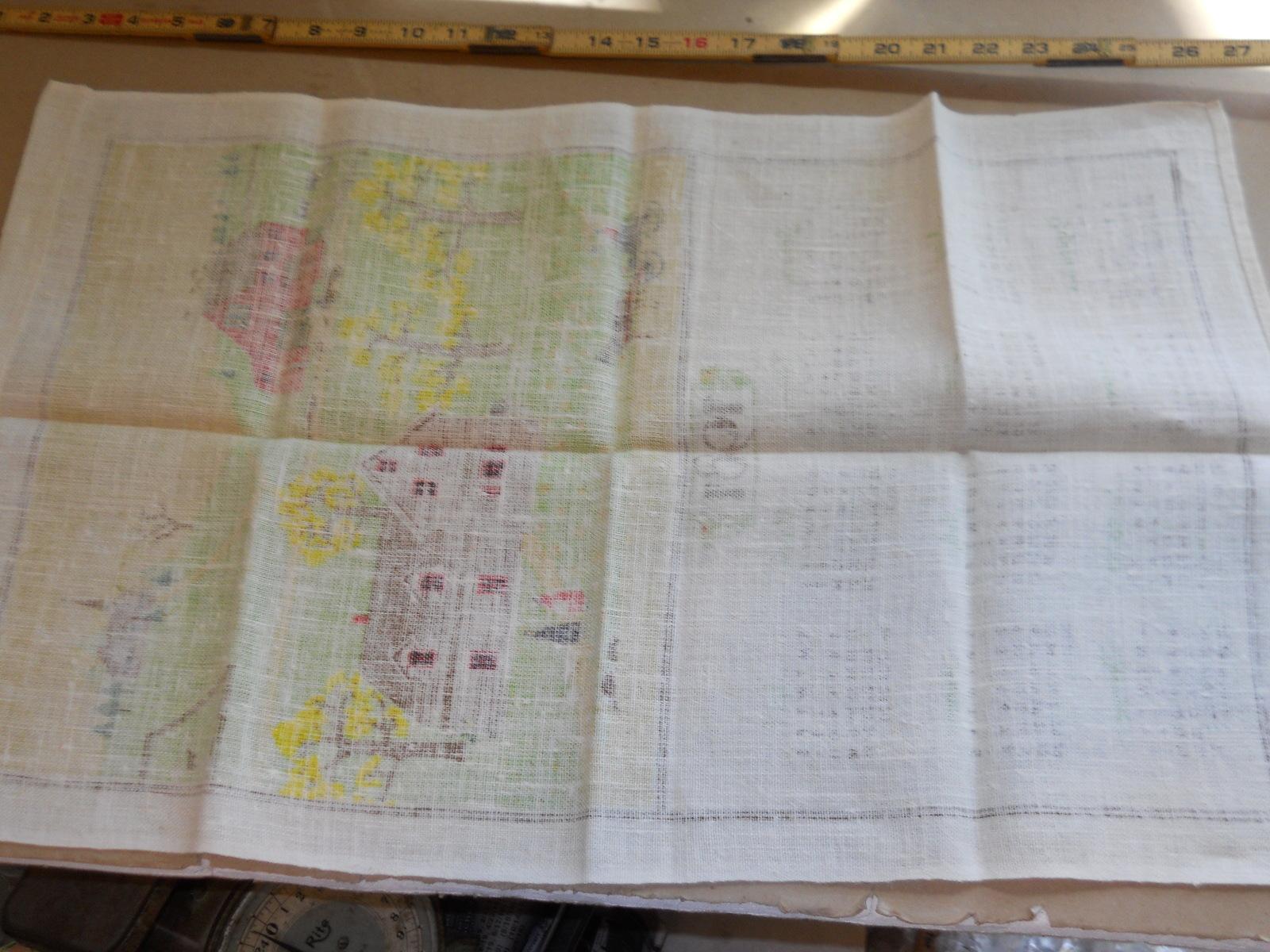 Vintage Linen 1981 Calendar Tea Towel Amish Country 16 x 26 image 2