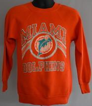 Vintage 80s Miami Dolphins Raglan Sweatshirt Crewneck Size XS to S - $34.99