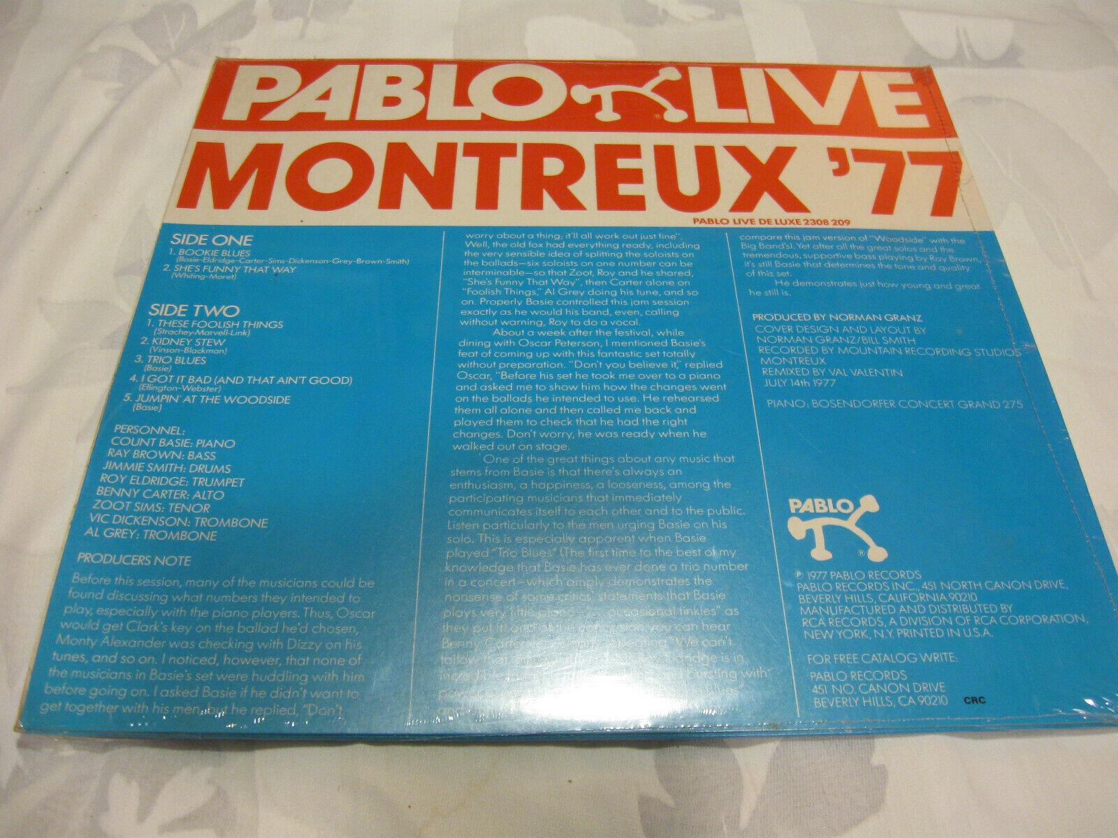 Count Basie Jam Montreux 77 Pablo 2308 239 Stereo Vinyl Record LP Jazz SEALED image 2