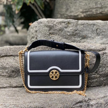 Tory Burch Chelsea Color-Block Convertible Leather Shoulder Bag - $420.00