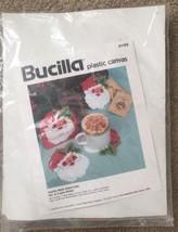 Vintage Bucilla Christmas Santa Face Coasters Craft Kit 61169 NEW Plasti... - $27.85