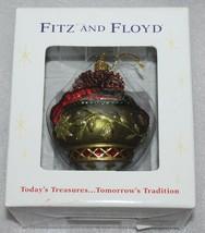 Fitz & Floyd Jolly Ole St. Nick Glass Ornament Holiday Christmas - $32.71